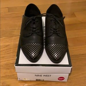 Nine West Dressy Black Lace Up Shoes